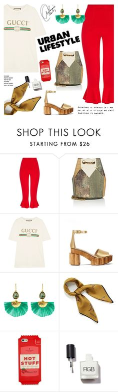 """""""- The New Urban Life -"""" by bugatti-veyron ❤ liked on Polyvore featuring Jérôme Dreyfuss, Gucci, Tory Burch, Ottoman Hands, Mulberry, F and Kate Spade"""