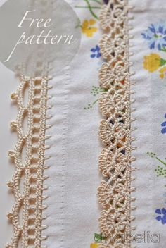 Crochet edgings - you have the option to translate the page, but the patterns are diagrams and easy to follow.