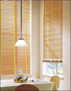 Premium Wood Blind in Oak Stained Finish with Pineapple Cloth Tape