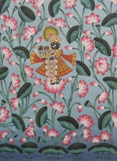 Krishna with a thousand lotus