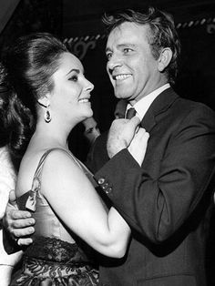 """""""Richard Burton & Elizabeth Taylor married twice, they had one of Hollywood's most highly publicised relationships. Old Hollywood, Classical Hollywood Cinema, Hollywood Couples, Golden Age Of Hollywood, Hollywood Stars, Classic Hollywood, Hollywood Glamour, Elizabeth Taylor, Richard Taylor"""