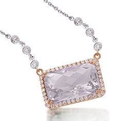Lavender Amethyst & Diamond Necklace by Meira T #Belloria