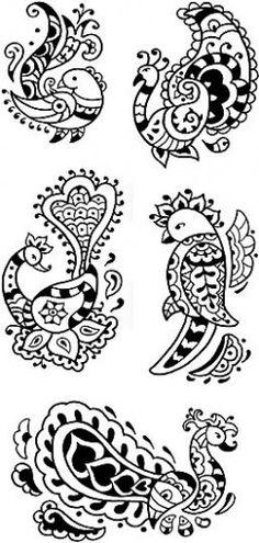 Mehndi birds