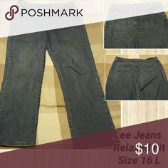 Lee Relaxed Fit Jeans, Size 16 Long. Lee Relaxed Fit Jeans, Size 16 Long. Lee Jeans Straight Leg