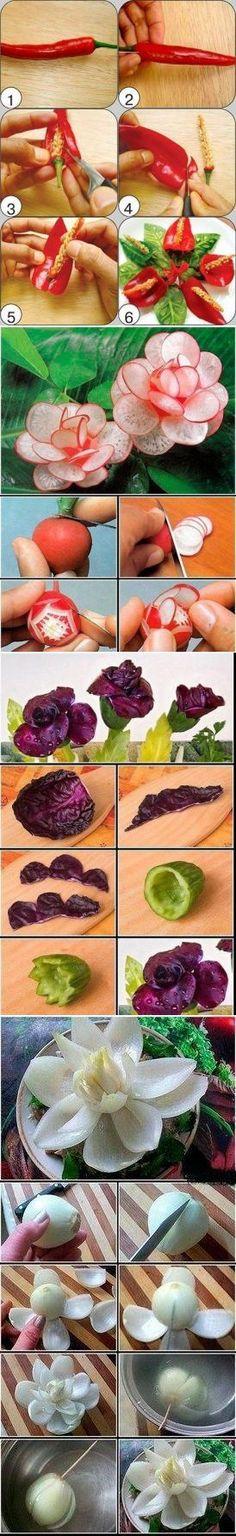 Красиво украшаем салаты! | Банк кулинарных рецептов