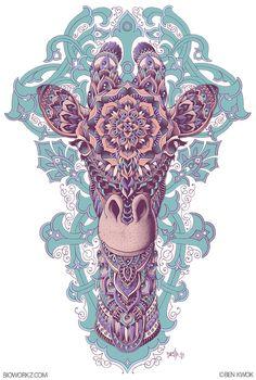 Giraffe (Colored) by BioWorkZ on deviantART