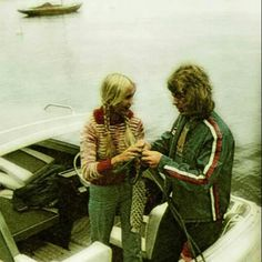 Anna and Björn in 1974
