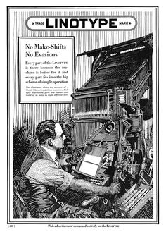 Linotype Typesetting Machines -1922A