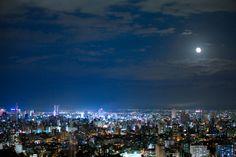 札幌の夜景(北海道) Night view of Sapporo, Hokkaido, Japan City Lights At Night, Night City, Sapporo, After Dark, Japan Travel, Cherry Blossom, Scenery, Clouds, Adventure
