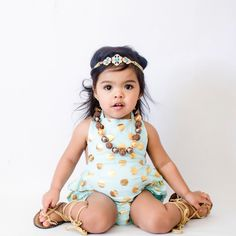 Polka Dot Halter Bubble Romper - Aqua   Children's and Baby Clothing Boutique   Bailey's Blossoms