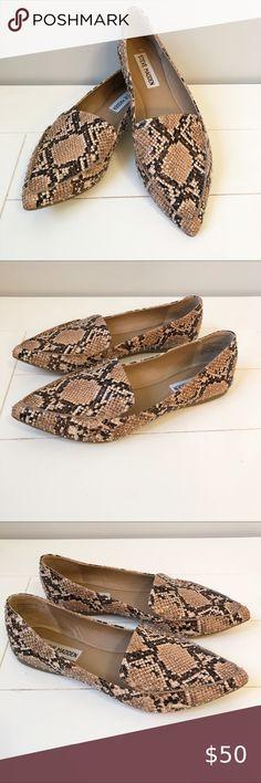 Anthropologie Dolce Vita Snake Print Criss Cross Slides Sandals Size 8 9 9.5 NIB