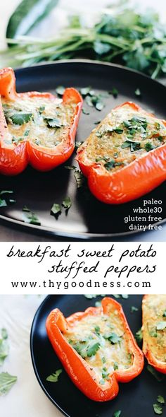 Time for a breakfast twist! These breakfast stuffed peppers have a southwest kick and are filled with an unlikely pairing...sweet potatoes. I will eat…