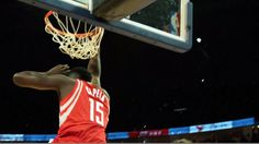 James Harden finds Clint Capela for the nice Houston Rockets alley-oop in Shanghai! #NBAGlobalGames
