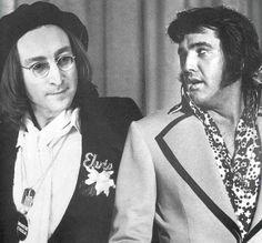 John Lennon and Elvis Presley