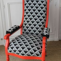 fauteuil des ann es 20 enti rement refait et recouvert d 39 un tissu casadeco chairs pinterest. Black Bedroom Furniture Sets. Home Design Ideas