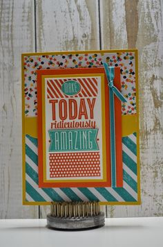 Paper, Pansies and Pachyderms - Mojo Monday, Stampin' Up! Amazing Birthday