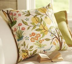 Jocelyn Floral Pillow Covers #potterybarn (for Summer lemon theme)