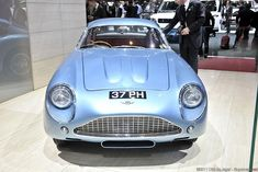 """The Zagato cars were built on a chassis with an aluI minum body. This car was called a """"race car in luxury clothing. Read more about this car. Aston Martin Sports Car, Aston Martin Vanquish, Old Sports Cars, Sport Cars, Bugatti Cars, Ferrari, Audi Q7, Ex Machina, Jaguar E Type"""