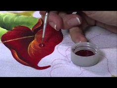 Pintando Anturio vermelho | Cantinho do Video