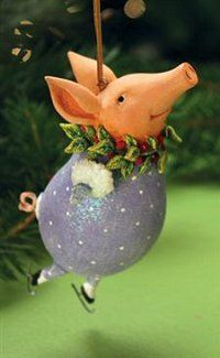 Patience Brewster Krinkles Esther Pig Christmas Ornament *** Click on the image for additional details.