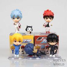 "5 pcs/set Japan Anime figurines Kuroko pas de panier Tetsuya Kuroko kise Ryota pvc action figure jouets poupée pour enfants garçon cadeau 2.4 ""(China (Mainland))"
