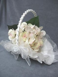 Classic Southern Belle Wedding Flower Girl Basket