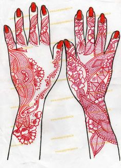 HENNA HAND DESIGN-FLORAL