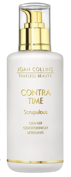 CONTRA TIME - Scrupulous Cleanser - 200ml. #ScrupulousCleanser #Scrupulous #Cleanser #DailyBeautyRoutine #Beauty #Face #SkinCare #SuitableforallSkin #ContraTime #liftingeffect #firming #hydrating #moisturising #calming #soothing Joan Collins, Daily Beauty Routine, Timeless Beauty, Soap Dispenser, Calming, Cleanser, Skincare, Makeup, Face