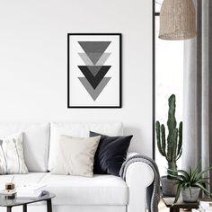 Triangles Wall Art, Minimalist Wall Art, Digital Download, Art Printable, Scandinavian Print, Print Monochrome, Home Print, Triangles Print Triangle Wall, Triangle Print, Print Print, Scandinavian Style, Triangles, Printable Art, House Warming, Monochrome, Digital Prints