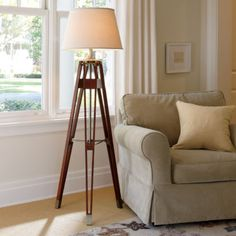 Love the style & craftsmanship of this lamp. JCPenney Home™ Surveyor Floor Lamp - JCPenney #EvaHomeJCP #JCPHome #sponsored