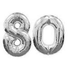 """6 X Rose 80th Anniversaire 12/"""" Latex Ballons Air Remplissage Fête Décoration 80 perlée"""