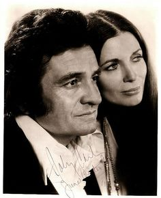 Johnny and June Carter Cash Wedding Vows | Johnny Cash and June Carter Cash nicely signed 8x10 photo..$350