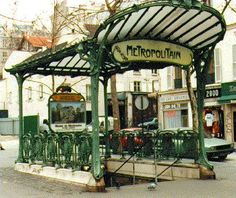 The Abesses Metro stop (Montmartre), is one of only a few of the original art nouveau metro entries left. This exemplifies metro entries as they were in the early 1900's.