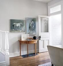 Style at Home - entrances/foyers - Farrow & Ball - Skimming Stone - gray… Decorating Small Spaces, Interior Decorating, Interior Design, Farrow Ball, Style At Home, Room Colors, Wall Colors, Paint Colours, Skimming Stone