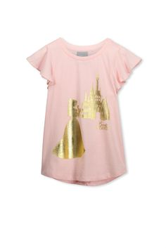 LUX FLUTTER TEE - Girls SS tee with rib neck band and cute flutter sleeve. The Lux Flutter Tee features prints of all your favourite characters and bands with a fun Cotton On Kids twist.