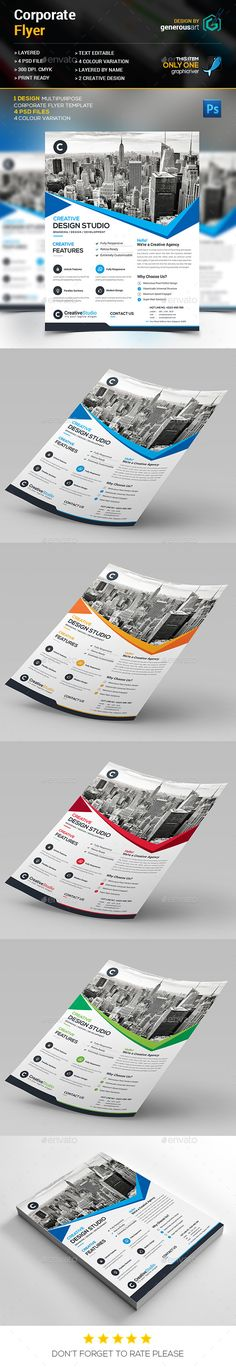 Corporate Flyer Template PSD #design Download: http://graphicriver.net/item/corporate-flyer/13404617?ref=ksioks