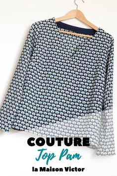I sewed the top Pam of the Victor House! Coin Couture, Couture Sewing, Sewing Online, Diy Kleidung, Couture Tops, Western Dresses, Western Shirts, Diy Clothes, Outfits
