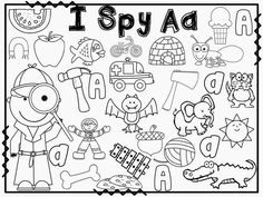 I spy letter activities for every letter of the alphabet! Students search out the words that start with the letter!