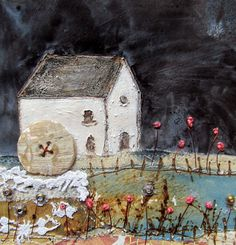 'The old water mill' by Louise O'Hara of DrawntoStitch www.drawntostitch.com