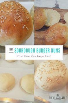Sourdough Hamburger Buns Recipe, Sourdough Starter Discard Recipe, Bread Starter, Sourdough Recipes, Bread Recipes, Sourdough Bread, Sourdough Brioche Recipe, Yeast Bread, Homemade Buns