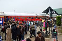 Chief Minister Mehbooba Mufti  and deputy Chief minister dr. Nirmal  Singh.. inaugurating a super fast train at Anantnag Railway Station in south kashmir ...Excelsior\Sajad Dar