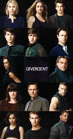Janeane, Tris, Peter, Al, Will, Caleb, Tori, Marcus, Molly, Tris' dad, Erik, Christina, Four, Max
