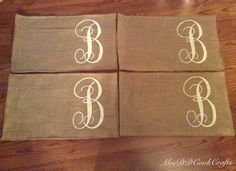 burlap placemats monogrammed 14x18 personalized placemats custom