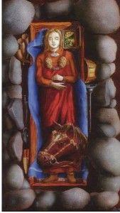 """""""The Gausel Queen"""". Stavanger. From around 850. One of the richest female burials in Norway, (Ill: Ragnar Børsheim )"""