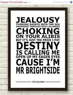 mr. brightside by the killers.