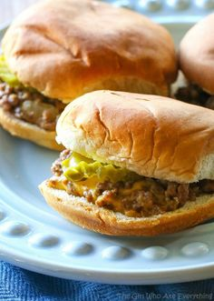 White Castle Sliders - a copycat version of the famous sandwich which is great for parties. I can't vouch that they're exactly the same but they're good! the-girl-who-ate-everything.com