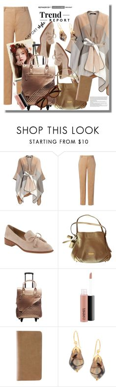 """""""Wanderlust Wonderful: Airport Style"""" by pesanjsp ❤ liked on Polyvore featuring Avery, Banana Republic, Burberry, MAC Cosmetics, Royce Leather, Taylor and airportstyle"""