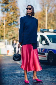 On the street at Paris Fashion Week. Photo: Moeez Ali