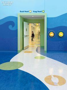 Clinic Design, Healthcare Design, Children's Clinic, Hospital Architecture, Floor Graphics, School Murals, Hospital Design, Design Research, Environmental Design