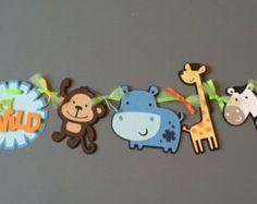 Jungle Friends Digital stamps Clipart by pixelpaperprints